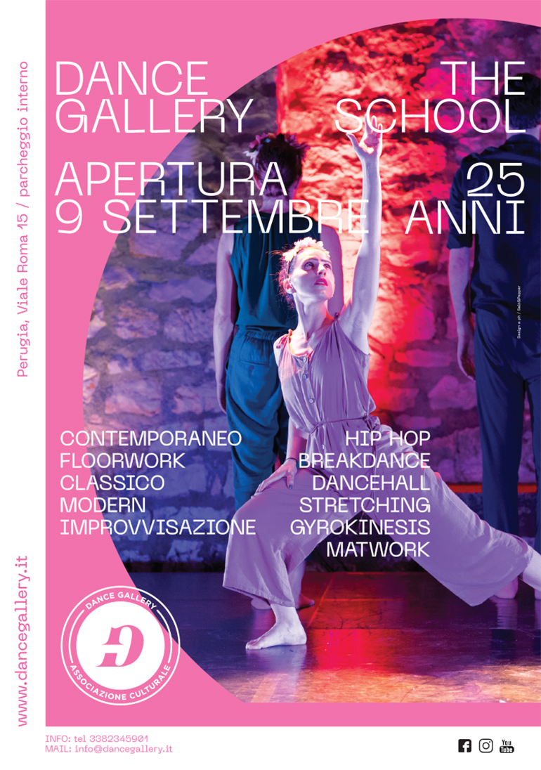 Dance Gallery identity poster | Salt & Pepper